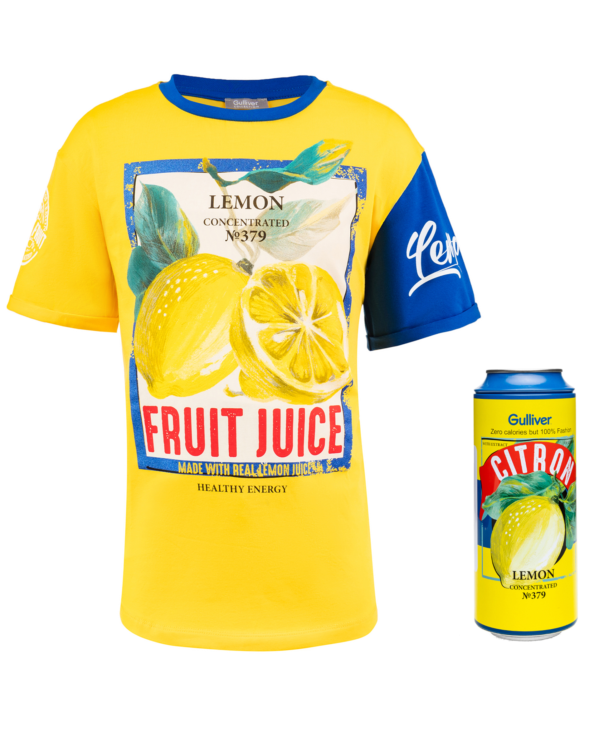 fcb8476ad8c Yellow printed t-shirt Gulliver is to buy in online store Gulliver ...